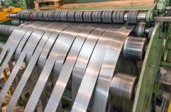 Свертывает спиралью машину резца Концепция промышленных и дела Стоковое Изображение