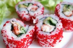 свертывает суши стоковая фотография