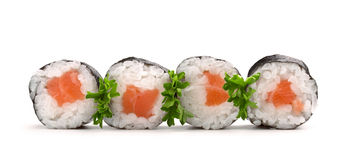 свертывает salmon суши Стоковое Фото