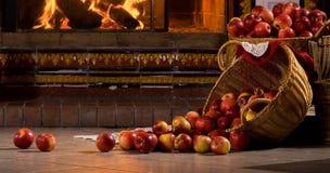свертывать яблок Стоковое Изображение