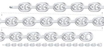 Сверхмощное серебряное цепное repeatable Стоковая Фотография RF