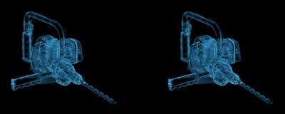Сверхмощный взгляд stero сверла Стоковая Фотография RF