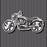 Сверхмощный мотоцикл велосипедиста, W в форме мотор, изображение вектора бесплатная иллюстрация