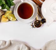Сверху взгляд расположения чая Стоковое Изображение