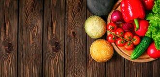 Сверху снял плюшек и овощей Стоковые Фото