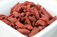 Сверх-плодоовощи - высушенные ягоды goji стоковое изображение
