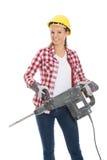 Сверло удерживания женщины Стоковая Фотография RF