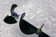 Сверло для рыбной ловли льда Стоковые Фотографии RF