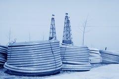 Сверля деррик-кран в железной шахте, Китай стоковые фото