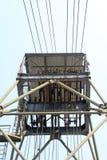 Сверля деррик-кран в шахте утюга стоковое изображение rf
