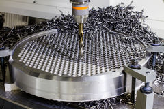 Сверля машина в фабрике Стоковая Фотография RF