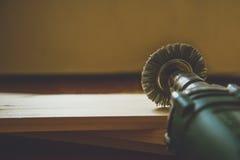 Сверля машина с древесиной Стоковое фото RF