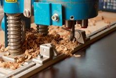 Сверля машина для древесины Стоковое Фото