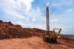 Сверля отверстия в угольной шахте Стоковое Изображение RF