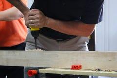 сверля древесина Стоковая Фотография RF