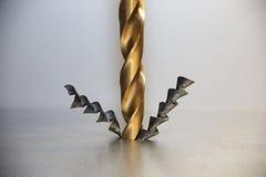 Сверля сталь Стоковое фото RF