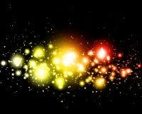 света абстрактной предпосылки цветастые накаляя Стоковые Фото