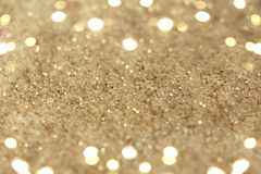 Света абстрактных праздников золотые на предпосылке Стоковая Фотография RF