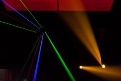 Света лазер, света на этапе стоковое изображение rf