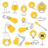 Света лампы Стоковое фото RF