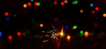 Света бенгальского огня и рождества Стоковое Изображение