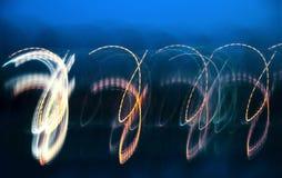 Света в вечере Стоковая Фотография RF