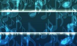 Света в форме музыкальных символов Стоковые Фотографии RF