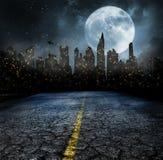 Света города в ночи стоковая фотография rf
