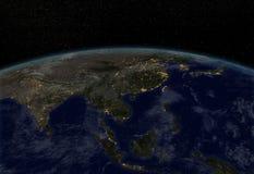 Света города - Азия Стоковое Фото