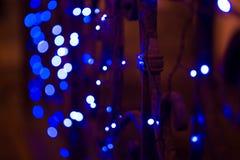 Света города ночи, абстрактная предпосылка живо Стоковые Изображения RF