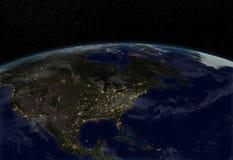 Света города - Северная Америка Стоковые Изображения