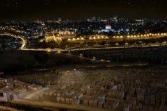 Света города старых Иерусалима - Израиля Стоковая Фотография RF