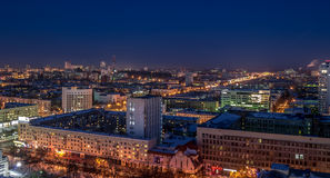 Света города Yeakaterinburg стоковые фото