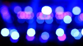 Света диско из фокуса абстрактное bokeh сток-видео