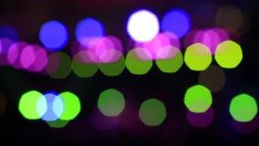 Света диско из фокуса абстрактное bokeh акции видеоматериалы