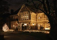 света дома рождества Стоковая Фотография RF