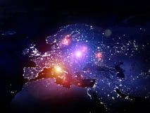 Света европы Стоковая Фотография RF
