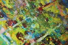 Света, запачканная предпосылка мягкой акварели золотая пастельная Стоковое Фото