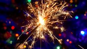 Света искры рождества Стоковое Фото