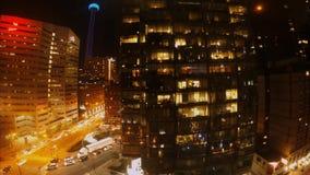 Света и движение города в Торонто Канаде сток-видео