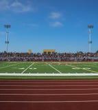 Света и стойки футбольного поля Стоковое Изображение RF