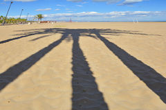 Света и тени на пляже Стоковое Изображение