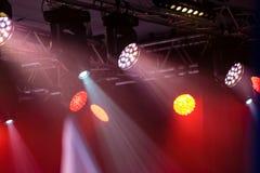 Света концерта или клуба диско стоковая фотография rf