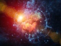 Света межзвёздного облака Стоковая Фотография