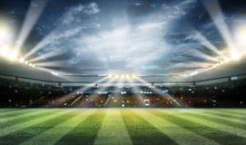 Света на ноче и стадионе 3d представляют, Стоковое Изображение