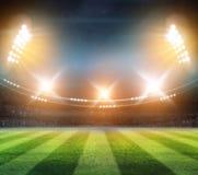 Света на ноче и стадионе 3d представляют, Стоковые Изображения