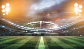 Света на ноче и стадионе 3d представляют, Стоковые Фото