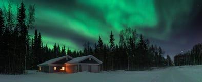 Света над северным полюсом стоковая фотография rf