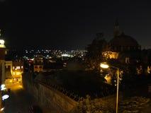 Света ночи и краска Стамбул Стоковая Фотография