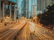 Света дороги Гонконга hennesy Стоковые Фото